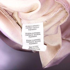 bebe Tops - Bebe Tan Sequin Bow Tie Silk Tank Top M